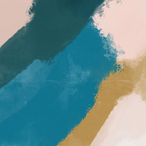 daubed abstract paintscape  - XL scale