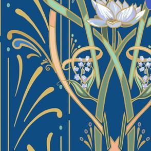 Art Nouveau Dragonflies | Classic Blue