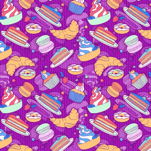 Sweets on violett