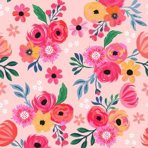 Pink Flowers Jumbo
