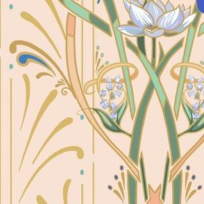 Art Nouveau Dragonflies | Hint of Blush