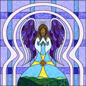 Stained Glass Angel 54 Dark