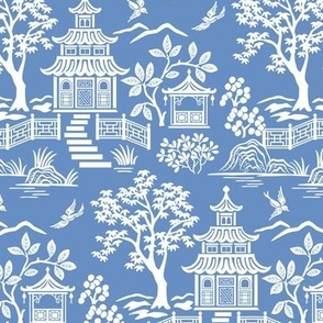 Chinoiserie Pagoda Blue small