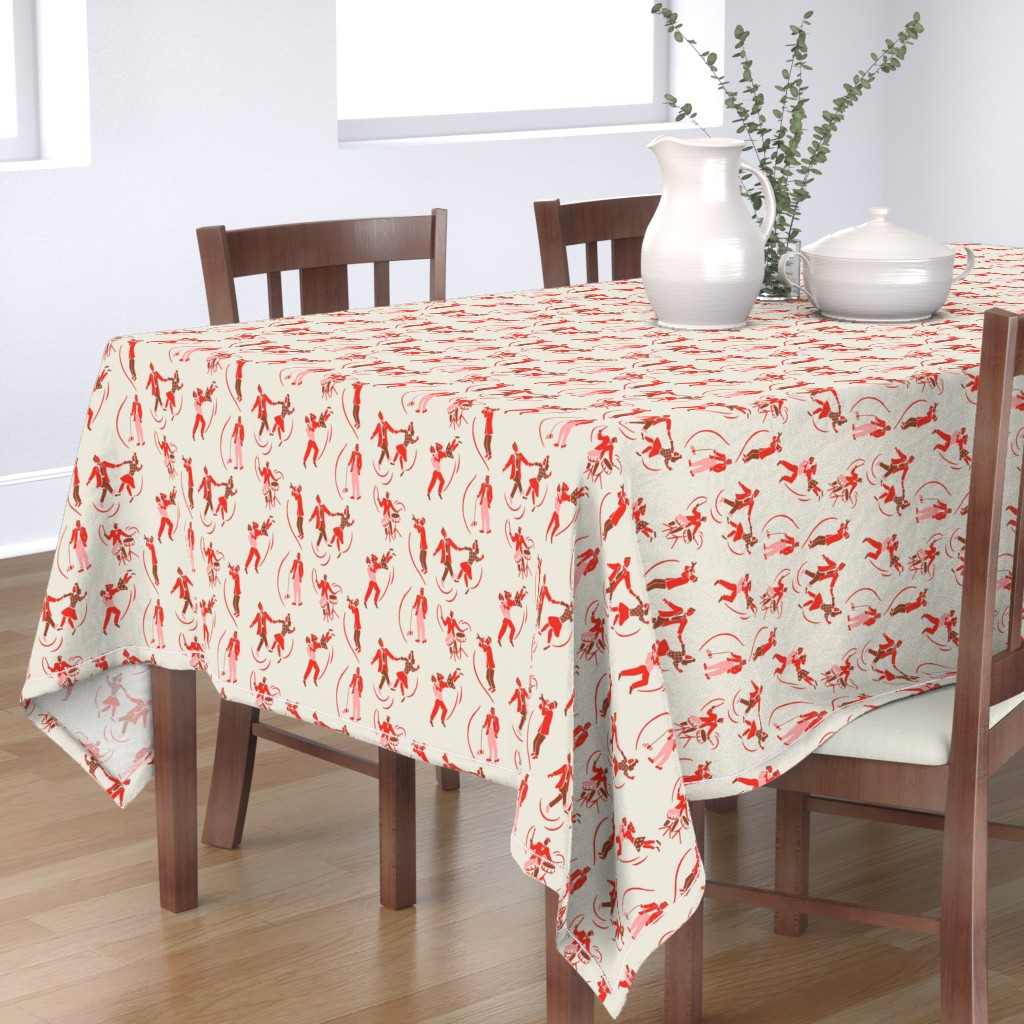 Bantam Rectangular Tablecloth featuring Rockin Swing 2b by muhlenkott