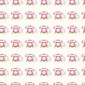 Retro Phone Pink Princess