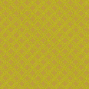 yellow doodle circles and rhombuses