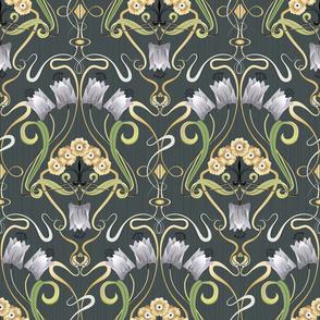 Art Nouveau tulips
