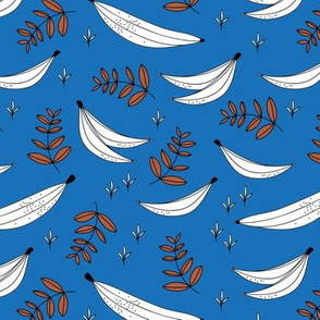 Banana jungle garden tropical summer island vibes beach design swimwear kids classic blue rust