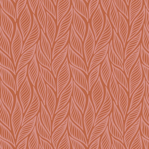 beige doodle abstract leaves