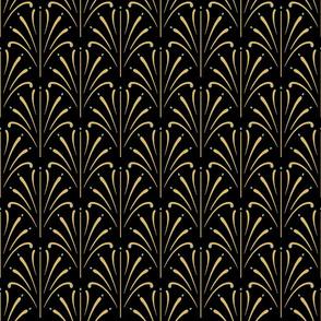 Art Nouveau Fans | Black