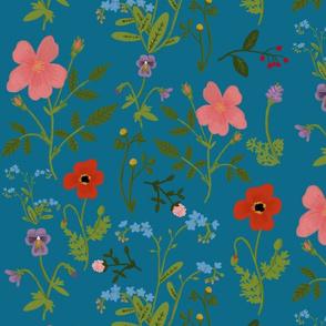 Spring floral- blue