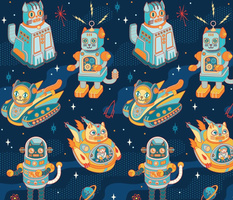 Cat Bots in Space