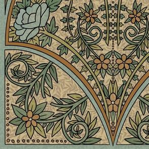 Art Nouveau - Large Blue