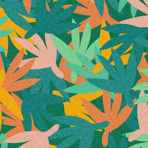 Tropical Papercut Plants with Texture / Big Scale