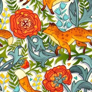 Art Nouveau Foxes