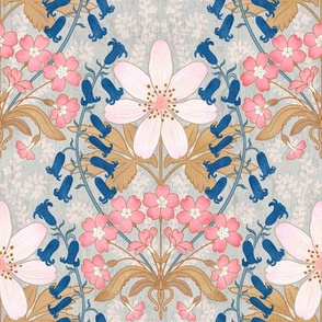 English Blooms Art Nouveau 8""