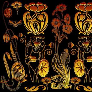 art nouveau blk gold