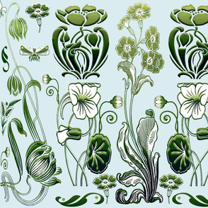 Morning Glory Art Nouveau