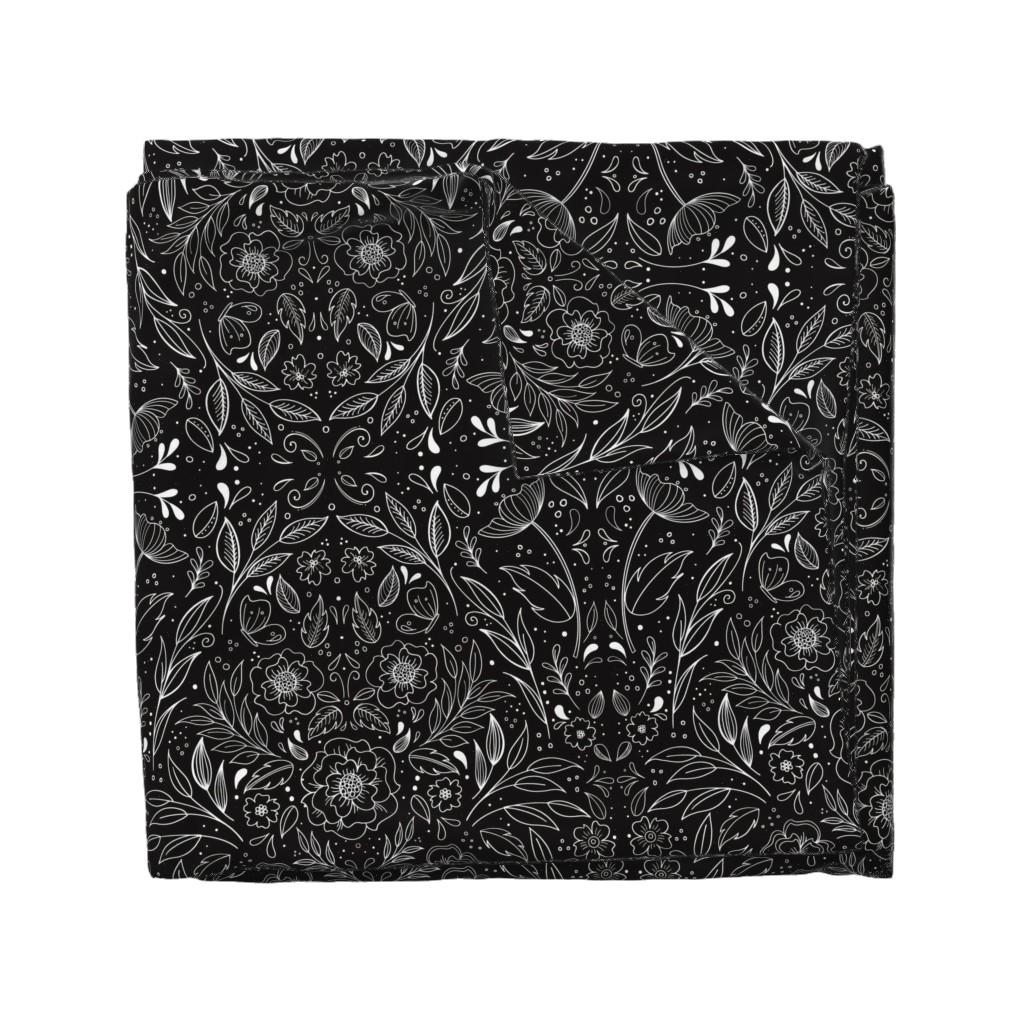 Wyandotte Duvet Cover featuring Floral Art Nouveau Mirror  by kathryncole