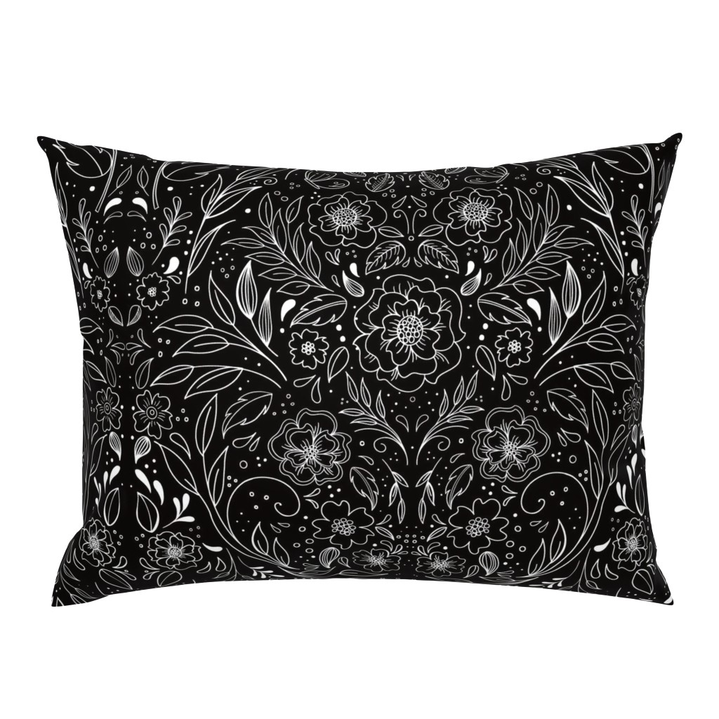 Campine Pillow Sham featuring Floral Art Nouveau Mirror  by kathryncole
