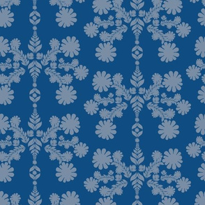 P022020 Spring Flowers Narrow Base Classic Blue Large Scale