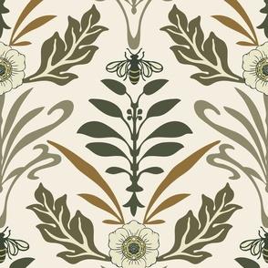 Art Nouveau - Large - Ivory