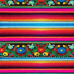 Serape with Flowers