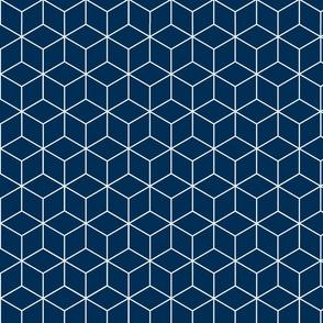 Moroccan Dark Blue Cubes