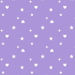 Heart and stars purple - Etoiles coeurs 20 violet AD95D9