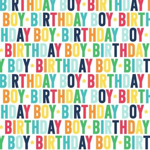 birthday boy rainbow with navy UPPERcase