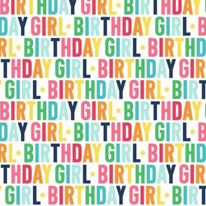 birthday girl rainbow with navy UPPERcase