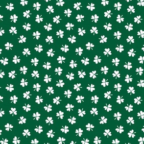 Romantic clovers green St Patrick's Day shamrock lucky charm green white