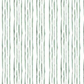 Shades of Green Hand-Drawn Stripes
