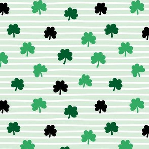 St Patrick's day clovers and stripes shamrock lucky charm green mint