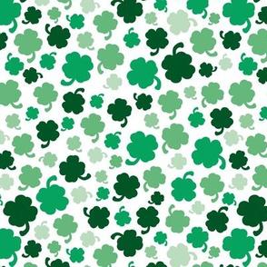 St Patrick's day garden green shamrock lucky charm clover green