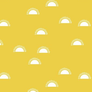 Little sunshine morning minimal trend abstract kids nursery design bright yellow day