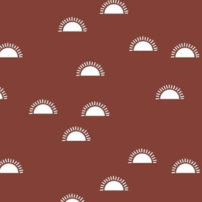 Little sunshine morning minimal trend abstract kids nursery design brown latte