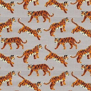 Bengal Tigers - Grey (Small Version)