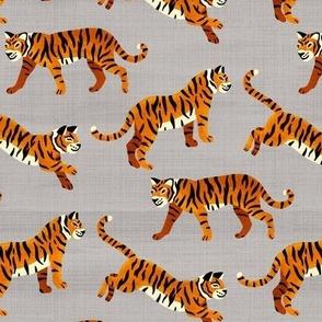 Bengal Tigers - Grey (Medium Version)