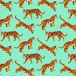 Bengal Tigers - Mint (Small Version)