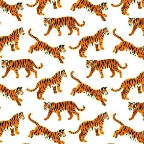 Bengal Tigers - White (Small Version)