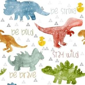 Dino be brave earth tones