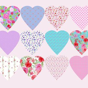 Cut and Sew Hearts fat quarter