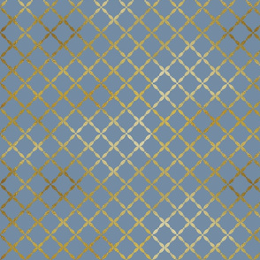 Gold-Lattice on Denim Background
