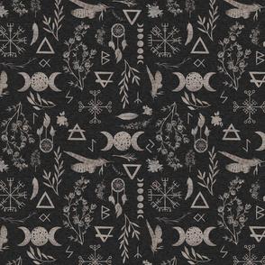 Moon Magic - black linen