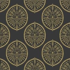Gold Geometric Tribal Eye