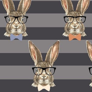 Hipster Bunny Stripes 4""