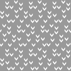 Random Chevrons - Medium Grey