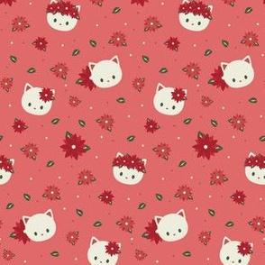 Poinsetta White Cat