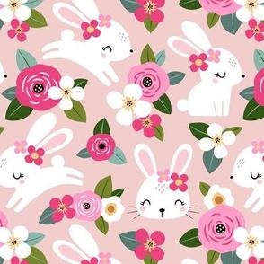 Floral Bunny / Blush